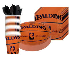basketball party supplies spalding basketball party supplies pack including plates cups