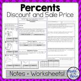 percents sales tax tips and commission notes and worksheet