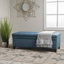 Tufted Storage Ottoman Blue Ottomans U0026 Poufs You U0027ll Love Wayfair