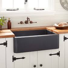 Hammered Copper Apron Front Sink by Copper Farmhouse Sink Signature Hardware