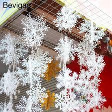 bevigac 6 cs xmas winter wonderland snowflake ornaments with