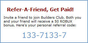 Robux Gift Card Codes - refer a friend get paid roblox blog