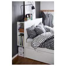 Beds With Headboard Storage Brimnes Bed Frame W Storage And Headboard White Luröy Standard