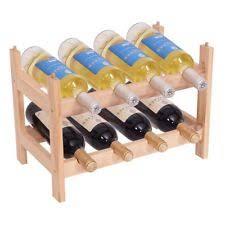 40 bottle wood wine rack 5 tier storage display shelves kitchen