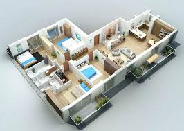 Apartment Designs Shown With Rendered D Floor Plansapartment - Apartment design software