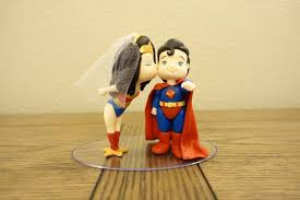 superman wedding cake topper woman and superman cake topper wedding cake topper