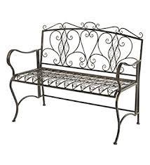White Metal Outdoor Bench Amazon Com Outdoor Folding Metal Scroll Bench Antiqued Bronze