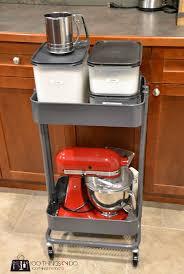 organizing the kitchen the raskog baking cart