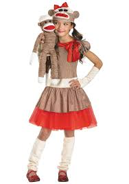 party city halloween girls costumes girls sock monkey costume