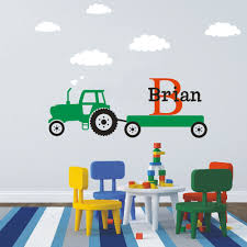popular baby wall graphics buy cheap baby wall graphics lots from custom name initial cartoon tractor monogram wall sticker nursery room vinyl wall decal graphics boys baby