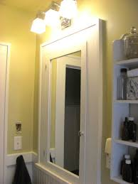 Framing Bathroom Mirrors Diy - framed bathroom mirror diy city gate beach road white cabinet with