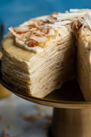 cuisine crepe white chocolate lemon curd crepe cake eat eat