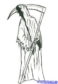draw grim reaper step step creatures monsters
