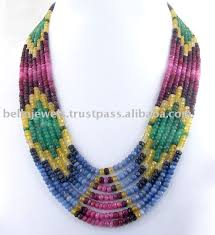 beaded necklace jewelry designs images Beaded jewelry designer multi gemstone beaded necklace jewelry jpg