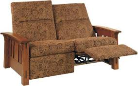 mccoy loveseat recliner indiana amish loveseat recliner solid