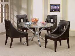 dining room sets leather chairs dining room monochrome furnished wood dining table black and