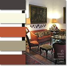 tuscan color palette palazzo living room in rust terra cotta and