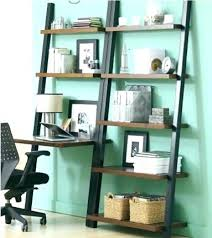 Easy Crate Leaning Shelf And by Ladder Desk With Shelves Leaning Desk Ladder Desk Shelves