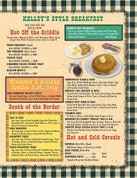 kelley u0027s country cookin u0027 menu stafford dineries