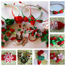 christmas hair accessories christmas hair accessories from and lilly handmade