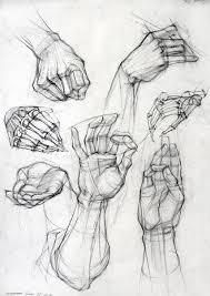 a good rendition of hands i like the skeleton fingers best a