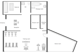 gym and spa area plans solution conceptdraw com floor plan example