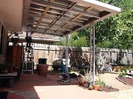 Outside Patio Covers by Metal Roof Patio Canopy How To Build A Patio Cover With A