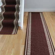 Luna Laminate Flooring Reviews Luna Brown Cut To Measure Washable Non Slip Runner Rugs 66cm Wide
