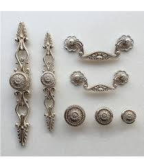 Antique Kitchen Hardware For Cabinets French Shabby Chic Dresser Drawer Pulls Handles Antique Silver