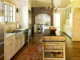 French Country Kitchen Backsplash by Kitchen Cute Country Kitchen Decor Themes With White Subway Tile