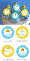 Rubber Ducky Baby Shower Decorations Duck Baby Shower Rubber Duck Cupcake Toppers Decorations Lmk Gifts