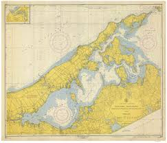 Long Island New York Map by New York Historical Nautical Charts
