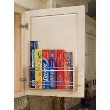 over the door cabinet rev a shelf foil rack door mount 16 1 8in wide kitchen storage