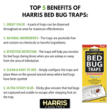 How To Make A Bed Bug Trap Amazon Com Harris Bed Bug Early Detection Glue Traps 4 Pack