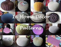 Crochet Ottoman Pattern Knitting Pattern 16 Knitted Crochet Pouf Floor Cushion Patterns