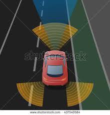 Blind Spot Alert Advanced Driving Assistant System Adas Blind Stock Vector