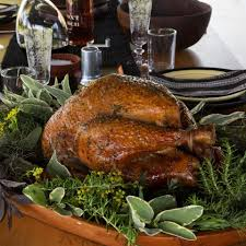 herb roasted turkey with calvados gravy recipe eatingwell