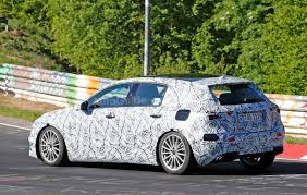 green mercedes a class next gen mercedes a class hits the nurburgring for testing