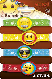 party favor bracelets emoji party supplies emoji party favor kit for 8