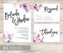 watercolor wedding invitations wedding invite multicolor wedding invitations