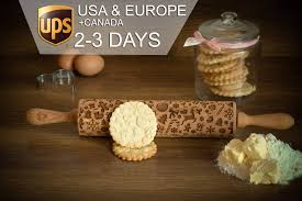 christmas rolling pin 3 x gift free embossing rolling pin