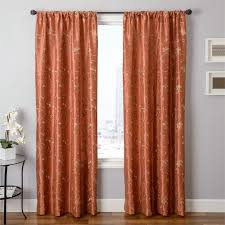 Patterned Window Curtains Contemporary Design Orange Patterned Curtains Valuable Ideas
