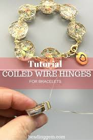 make bracelet beading wire images How to make coiled wire hinges to connect 2 hole beads the jpg