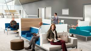 Modern Office Waiting Chairs Health Spaces Transition Waiting Steelcase