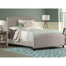 impressive tate dark grey upholstered bed crate and barrel