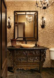 Crystal Bathroom Mirror Bathroom Decorations Ideas Powder Room Traditional With Textured