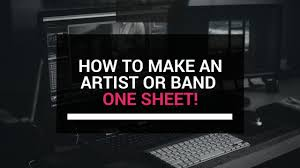 One Sheet Template How To An Artist Or Band One Sheet Template