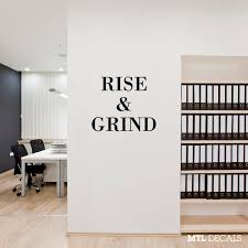 rise u0026 grind wall decal wall sticker wall decor