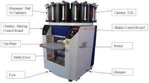 combined paint dispenser u0026 mixer color matching machine and