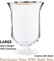 Large Hurricane Glass Vase Hurricane Candle Holders With Sand Candles Decoration